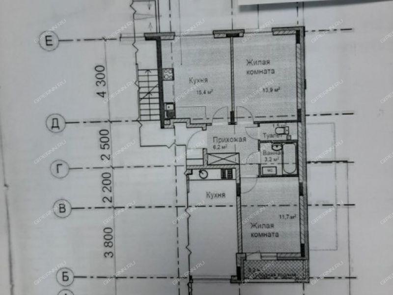 двухкомнатная квартира в новостройке на в границах улиц имени Маршала Рокоссовского, Генерала Ивлиева, Казанское шоссе, дом №16