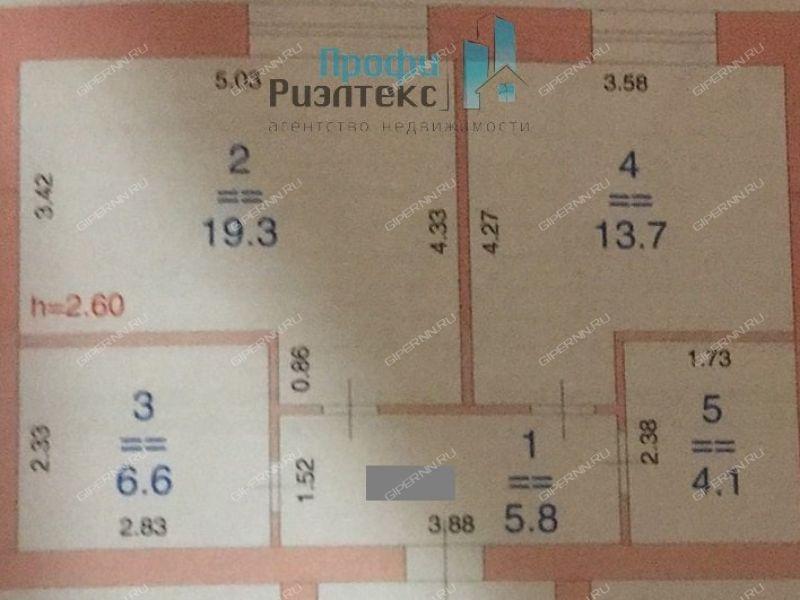 двухкомнатная квартира на улице Центральная дом 24 посёлок Новинки