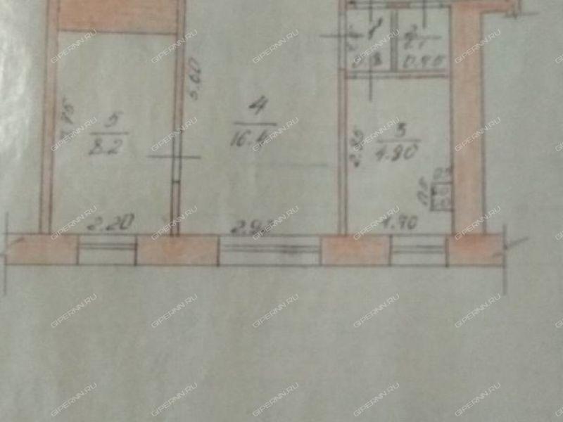 двухкомнатная квартира на улице Профсоюзная дом 12 город Бор