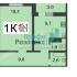 однокомнатная квартира в новостройке на Мончегорской улице дом 12 к2