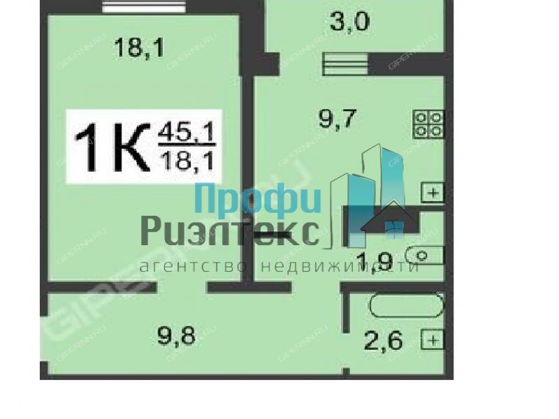 однокомнатная квартира на Мончегорской улице дом 12 к2