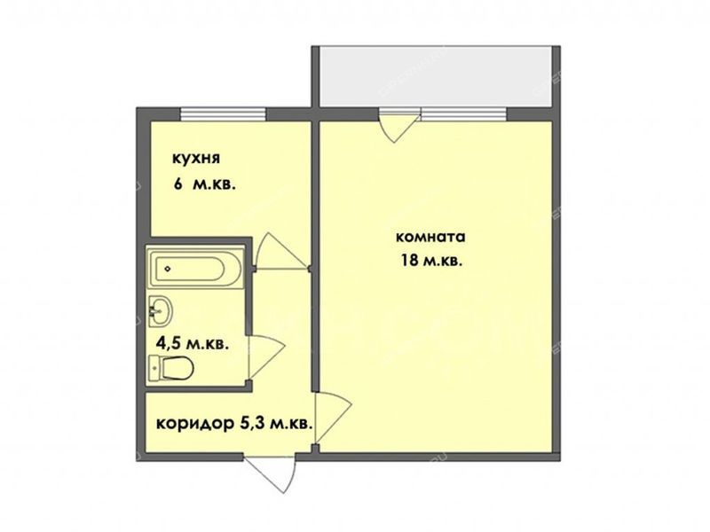 однокомнатная квартира на Комсомольском бульваре дом 5 к4 город Арзамас