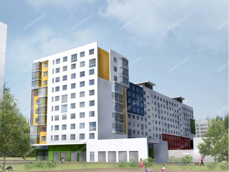 трёхкомнатная квартира в новостройке на улица Сухопутная